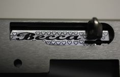 Here's an older one we did for Becca   #jwhcustom #jwh #bolt #cnc #laserengraved #becca #boltkit #custombuild #rifle #rifle1022 #riflebuild #custom1022 #ruger #ruger1022 #customruger #hearts #pattern