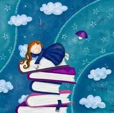 when I dream of fairy tales, I make them come true. by *libelle on deviantART Reading Art, Reading Quotes, I Love Reading, Book Quotes, Girl Reading, Children Reading, Reading Boards, Reading Room, I Love Books