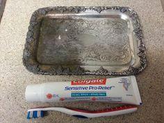 Toothpaste removes tarnish!