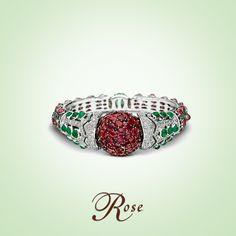 Designs that enchant with élan #Balas #Bracelet #WhiteGold #Ruby #Emerald #Masterpiece #TheHouseOfRose