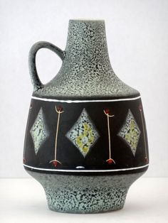Marzi & Remy Mid Century Diamond Motif West German Vase