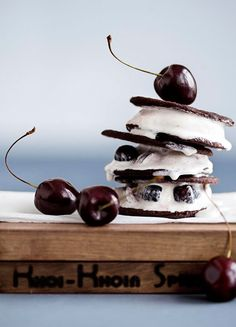 Cherry ice cream sandwiches