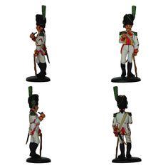 """Cabo - Guardia Real Napolitana - 1812-1813 (Colección """"Soldados de las Guerras Napoleónicas"""" editada por delPrado - 60 mm)"""