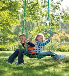 Our Deluxe Platform Swing is an outdoor toy kids will love. Hanging swings for kids are the new trend in outdoor play. This rope swing is tons of fun! Best Outdoor Toys, Outdoor Toys For Kids, Outdoor Play, Outdoor Spaces, Outdoor Living, Backyard Toys, Backyard For Kids, Backyard Ideas, Backyard Swings