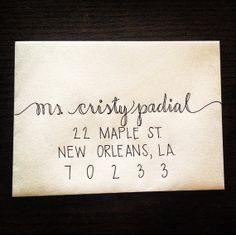 Custom Wedding Calligraphy Envelope Addressing, hand lettering