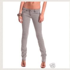 Sass & Bide Gray Jeans worn sass & bide skinny/straight leg gray jeans. size 24. see photos for signs of wear. Sass & Bide Jeans Skinny