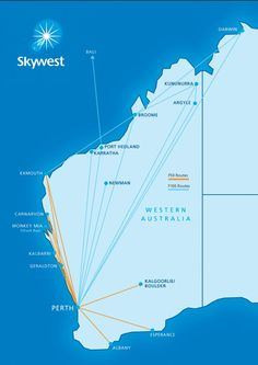 Skywest Airlines Western Australia Route Map