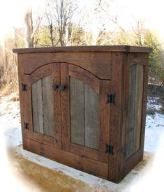 Image detail for -Rustic Furniture by Don McAulay Rustic Cabinets For Sale: Rustic . - Home Decorating Inspiration Primitive Furniture, Rustic Furniture, Diy Furniture, Furniture Design, Western Furniture, Furniture Knobs, Furniture Plans, Garden Furniture, Vintage Furniture