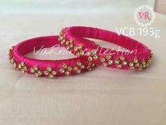 Silk Thread Jhumkas, Silk Thread Bangles Design, Silk Thread Necklace, Silk Bangles, Thread Jewellery, Diy Necklace Bracelet, Beaded Bracelets, Designer Bangles, Designer Jewellery