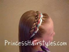 13 best 4th of July images on Pinterest   Princess hairstyles  Girls     Fourth Of July Hairstyle  Ribbon Headband