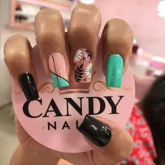 In search for some nail designs and some ideas for your nails? Here's our listing of must-try coffin acrylic nails for cool women. Dope Nails, My Nails, Gorgeous Nails, Pretty Nails, Graduation Nails, Nagel Gel, Green Nails, Nail Decorations, Halloween Nails