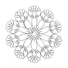 Snowflakes - Her Crochet Crochet Snowflake Pattern, Crochet Motif Patterns, Crochet Snowflakes, Crochet Mandala, Freeform Crochet, Crochet Diagram, Crochet Chart, Thread Crochet, Irish Crochet