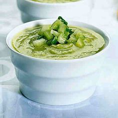 Zucchini and Avocado Soup With Cucumber Salsa - http://www.myeffecto.com/r/1B3l_pn