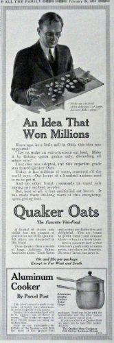 Quaker Oats, 1916 Print Advertisment. B&W Illustration, 5... https://www.amazon.com/dp/B00GT09OZ2/ref=cm_sw_r_pi_dp_0IBAxbQS6AJE7