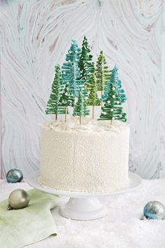 Pine Tree Forest Cake. All we want for Christmas is one (or two) of these cakes.