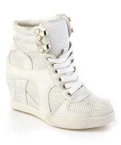 Look what I found on #zulily! White Eric Wedge Sneaker #zulilyfinds