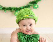 St. Patrick's Day Leprechaun Hat (Newborn-12 Months)- Newborn Hat- Baby Boy Hat- Baby Girl Hat- Infant St Pattys Day Hat- Photography Prop