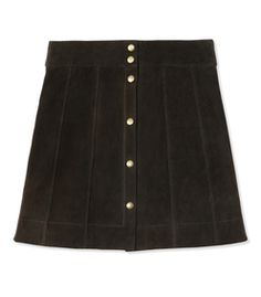 Frame Denim: Suede Snap Mini Skirt