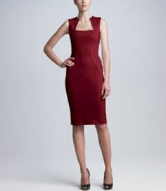 Revenge Fashion, Clothing. Victoria Grayson outfit: Zac Posen - Square-Neck Bonded Jersey Dress Shop it http://www.pradux.com/zac-posen-square-neck-bonded-jersey-dress-26785?q=s11