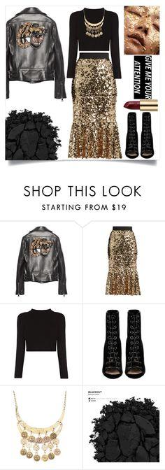"""neon leopard. II."" by rostovskaya-regina on Polyvore featuring мода, Gucci, Dolce&Gabbana, Barbara Bui, Urban Decay, JEM, black, Leather и leopard"