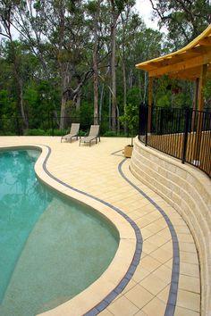 pool pavers   swimming pool paving gallery   fremantle stone