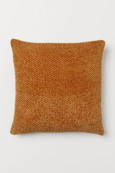 H&M - Chenille Cushion Cover - Yellow