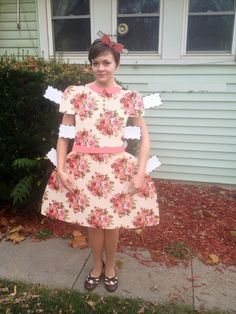 homemade paper doll costume