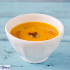 Pumpkinsoup with spicy salsa - English recipe - Pumpkinsoup with spicy salsa, a delicious soup in fall or winter. Creamy, slightly sweet and full of flavor. Warming on cold days.