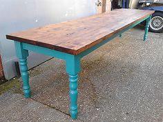 STUNNING SHABBY CHIC F&B RUSTIC FARMHOUSE DINING TABLE You chose the colour