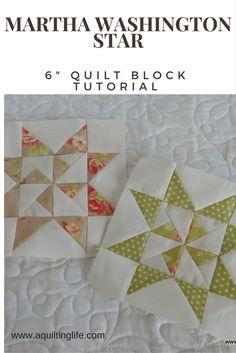 Free tuturial to make the Martha Washington Star quilt block http://www.aquiltinglife.com/2015/08/summer-sampler-martha-washington-star.html
