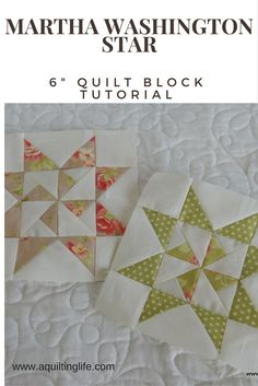 Six Inch Quilt Block Tutorial Round Up                                                                                                                                                                                 More