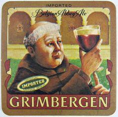 Lot of 9 GRIMBERGEN Belgian Abby Ale Beer Coasters Cardboard