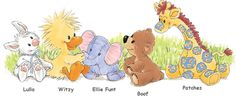 Little Suzy's Zoo characters