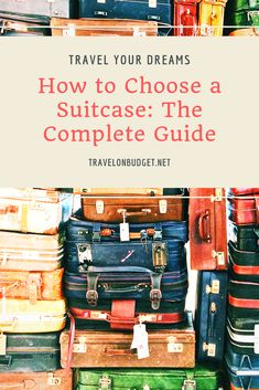 People who travel often know it well: you have to pay close attention to the choice of your suitcase. Your main selection criterion should be based on the type of trip you will be traveling and its duration. Best Suitcases, Large Suitcase, Travel Gadgets, Carry On Luggage, Travel Essentials, Baggage, Travel Style, Travel Guide
