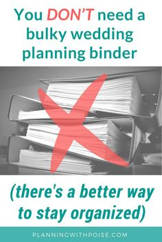 Here's what I think about #wedding #planning binders: ain't nobody got time for that! Let's get rid of the paper, people – it's 2018! Of course, you still have to keep some sort of system in place to keep track of all the information you're collecting – so in today's post I'm sharing a system that worked wonders for me when I planned my own wedding. You can think of it as a paperless wedding binder or a digital wedding binder – either way, it's awesome.
