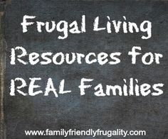 Resource Page: Frugal Living for Real Families