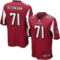 Kroy Biermann Atlanta Falcons Youth Nike Team Color Game Jersey - Red -  $44.99