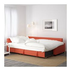 FRIHETEN コーナーソファベッド - スキフテボー ダークオレンジ, - - IKEA