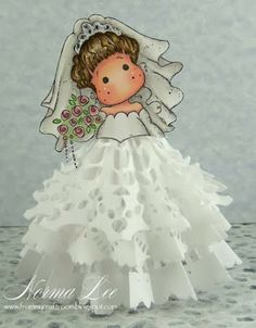 From My Craft Room: Christmas Angels (Plus Bride) - Magnolia-licious 'Doilies' Challenge