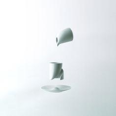 """coffee cup """"o! moon"""". A santos bregaña design for Vista Alegre Atlantis. Coming soon!"""