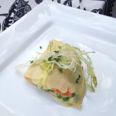Lobster Crepe with Peas and Saffron Cream @ Isis Theater - Wow! So light and flavorful...