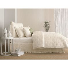 Candice Olson In the Groove Ivory Crinkle Coverlet and Sham Seperates - Overstock™ Shopping - Great Deals on Candice Olson Quilts