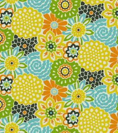 Waverly Modern Essentials Fabric-Button Blooms / Confetti: home decor print fabric: home decor fabric: fabric: Shop | Joann.com