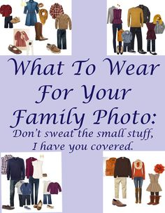 What to wear for the family photo?!?! Fall Family Picture Outfits, Family Portrait Outfits, Fall Family Photos, Family Pics, Family Portraits What To Wear, Family Picture Colors, Family Pictures What To Wear, Family Photo Sessions, Fall Photos