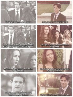 Bryce Johnson (Darren Wilden) , Troian Bellisario (Spencer Hastings) , Lucy Hale (Aria Montgomery) , Ashley Benson (Hanna Marin) , Shay Mitchell (Emily Fields) , & Sean Faris (Gabriel Holbrook) - Pretty Little Liars