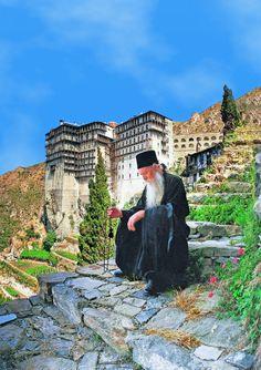 Simonos Petras Monastery, Mount Athos, Halkidiki, Greece