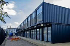 s shipping container office space. Shipping Container Conversions, Shipping Container Office, Converted Shipping Containers, Shipping Container Buildings, Shipping Containers For Sale, Container Shop, Container House Plans, Container House Design, Container Architecture