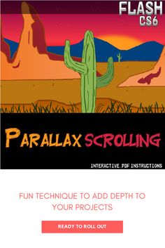 Flash Lesson - Using Parallax Scrolling to create awesome moving backgrounds Moving Backgrounds, How To Make Animations, Student Learning, 3 D, Computers, Feelings, Create