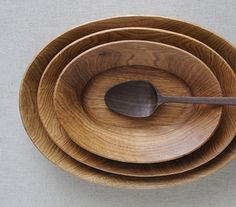 wood spoon and bowls