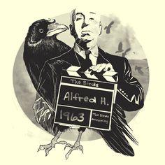 Camiseta 'The Birds' - Catalogo Camiseteria.com | Camisetas Camiseteria.com - Estampa, camiseta exclusiva. Faça a sua moda!